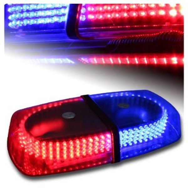 Rupse LED Red Blue Emergency Hazard Warning LED Mini Bar Strobe Light w/ Magnetic Base