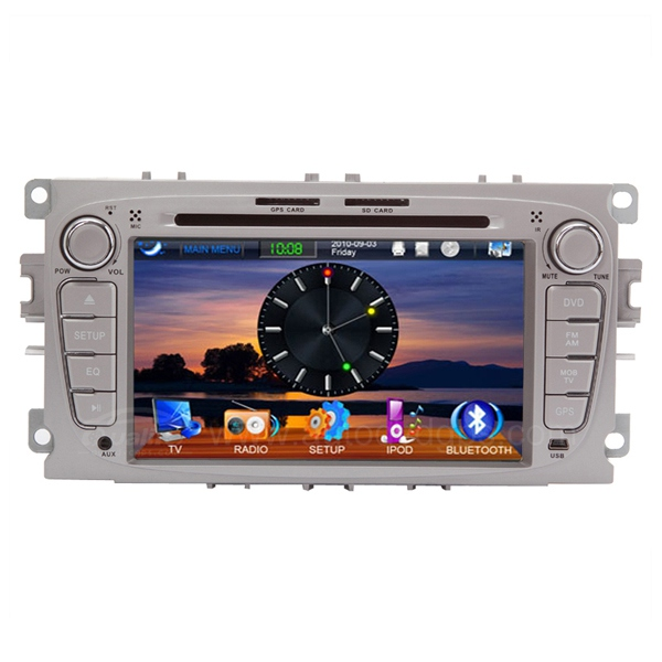 Ford Car DVD Player With 7 Inch Touch Screen, GPS, BLUETOOTH, DVB-T, Canbus, USB, SD