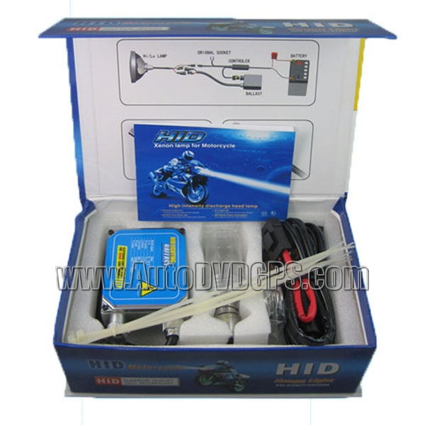 HID Motorcycle Complete Kit with DC  Ballast, 35W, H6 HID bulb with 0000K Colour Tempreture