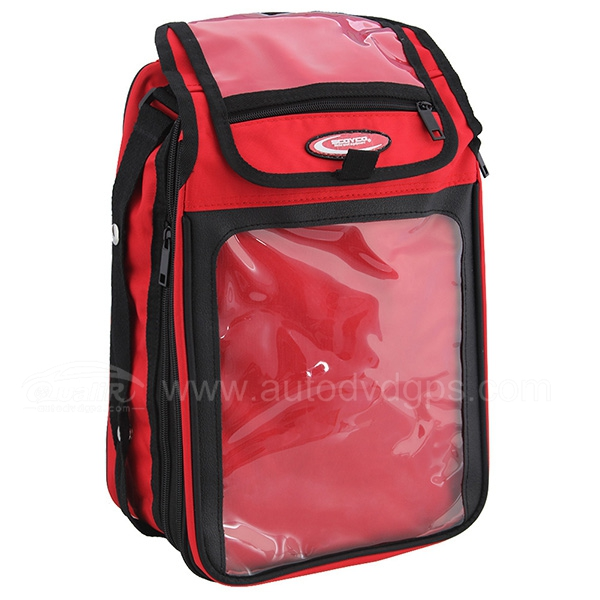 Universal Magnetic Motorcycle Motorbike Oil Fuel Tank Bag with Red