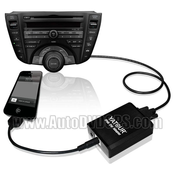 Yatour VW AUDI SKODA  iPod iPhone input in Adapter 12 pin + Bluetooth (optional)