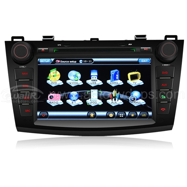 7 Inch Digital touchscreen DVD Navigation player with PIP RDS Bluetooth for 2010 2011 Mazda 3