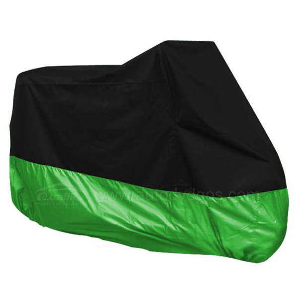 Motorcycle Motorbike Water Resistant Dustproof UV Protective Breathable Cover Outdoor Green/Black Carry Bag Waterproof 245x105x125cm