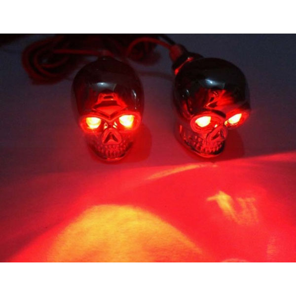 Motorcycle Led Kit >> Product Image Of Skull Red LED Light for Metal Motorcycle & Car License Plate