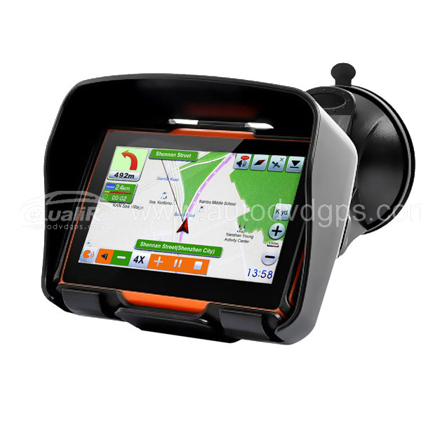 4.3Inch All Terrain Waterproof Motorcycle GPS Navigation System With 4GB
