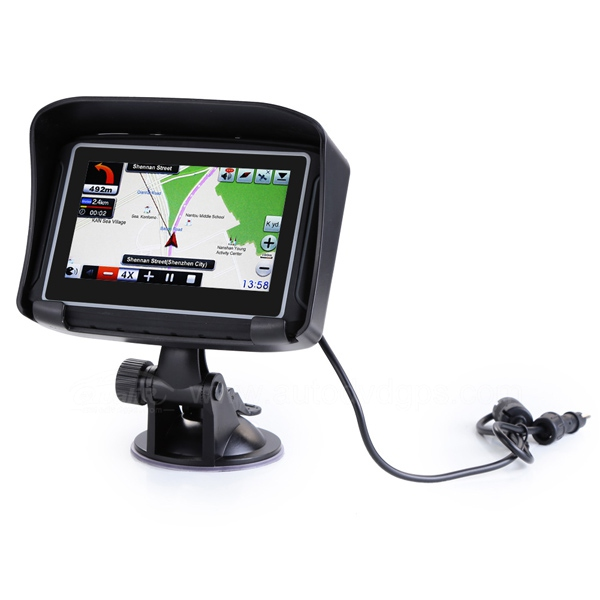 "4.3"" Inch Motor GPS Navigation System For Motorcycle IPX7 Waterproof 8GB Bluetooth"