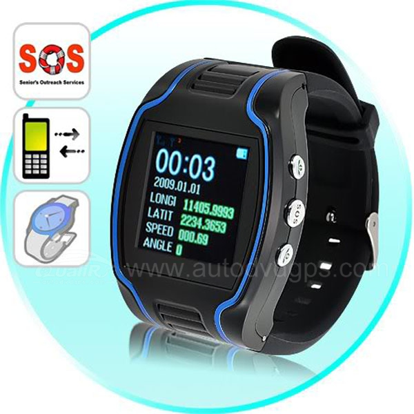 GPS Tracker Wrist Watch Gsm Surveillance Spy Tracking