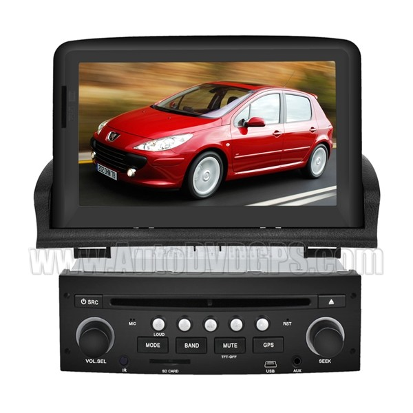 Car DVD Navigation with 7 Inch Digital Touch screen and iPod BT RDS CAN-BUS for 2001-2011 Peugeot 307