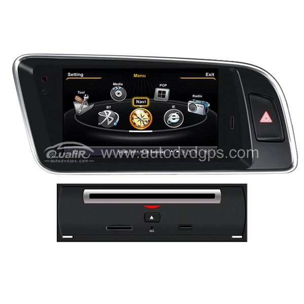 Car DVD GPS Navigation for 2008-2015 Audi Q5 with Dual-core/3Zone POP 3G WIFI/20 Disc CDC/DVD Recording/Phonebook/Game