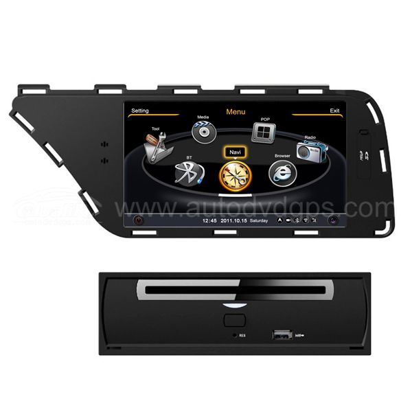 Car DVD GPS Navigation For 2008-2013 AUDI A4 A5 With dual-core/3Zone POP 3G/WIFI/20 Disc CDC/ DVD Recording/ Phonebook / Game