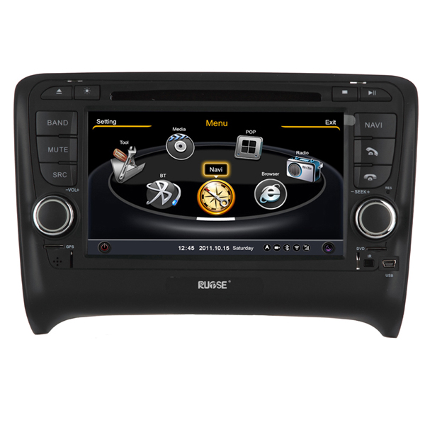 Car DVD GPS Navigation With dual-core/3Zone POP 3G/WIFI/20 Disc CDC/ DVD Recording/ Phonebook / Game For 2006-2011 Audi TT