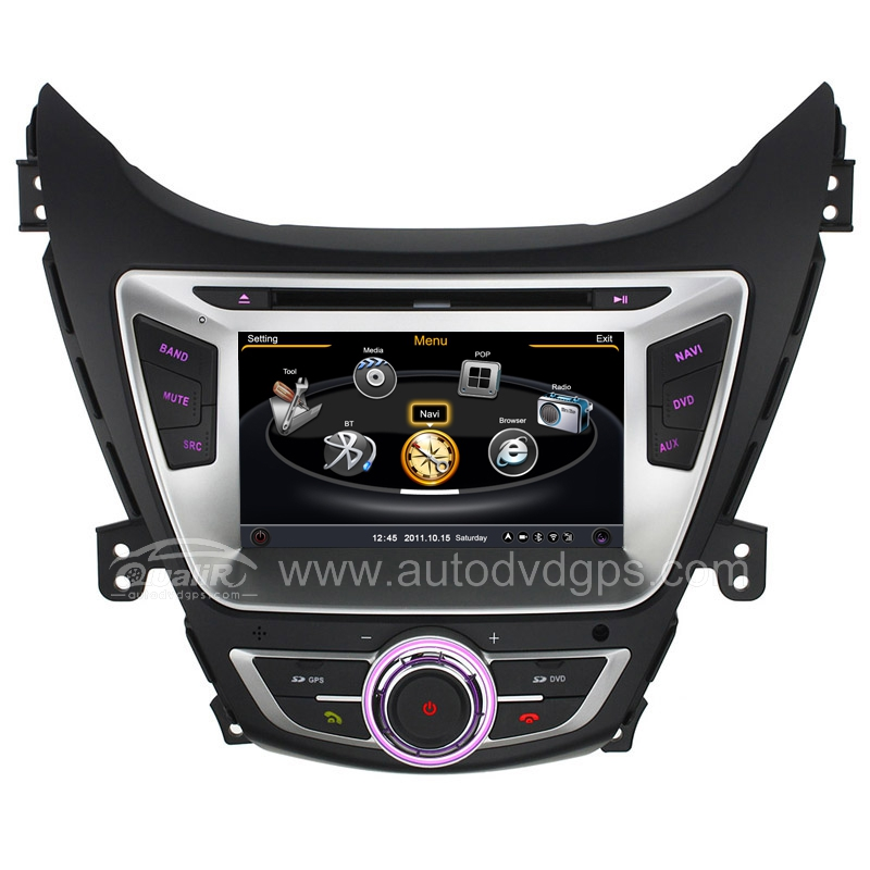 Car DVD GPS Navigation With dual-core/3Zone POP 3G/WIFI/20 Disc CDC/ DVD Recording/ Phonebook / Game For Hyundai Elantra3 Avante 2011