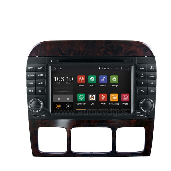 Android 4.4 Car DVD Player for Mercedes-Benz S W220 (1998-2005) S280 S320 S350 S400 S430 S500 S600 / Mercedes-Benz CL W215(1998-2005) with Capacitive Touch Screen