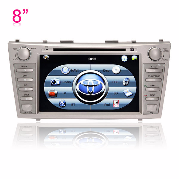 8 inch DVD GPS player Bluetooth + iPod + RDS + SWC with Digital Touch Screen Monitor for 2007-2011 Toyota Camry