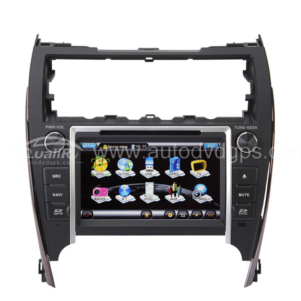 Aftermarket OEM 2012 Toyota American Camry 8 Inch HD Touchscreen DVD Player with GPS Navigation system For American