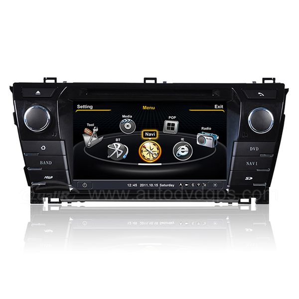 Car DVD GPS Navigation for 2014 Toyota Corolla with Dual-core/3Zone POP 3G/WIFI/20 Disc CDC/ DVD Recording/ Phonebook / Game