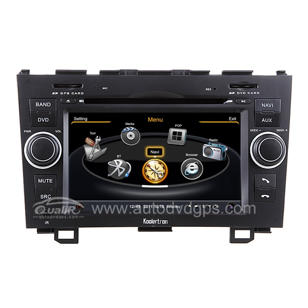 Car DVD GPS Navigation With dual-core/3Zone POP 3G/WIFI/20 Disc CDC/ DVD Recording/ Phonebook / Game For 2007-2011 Honda CR-V