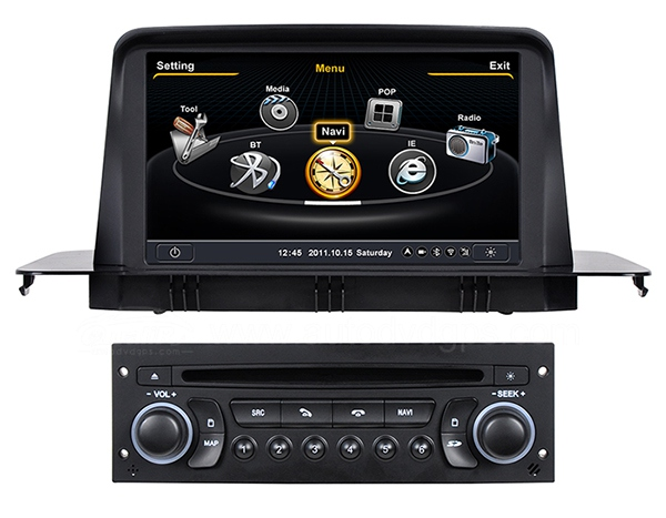 Car DVD GPS Navigation for 2012 2013 Citroen C3 with Dual-core/3Zone 3G/WIFI/20 Disc CDC/DVD Recording/ Phonebook/Game