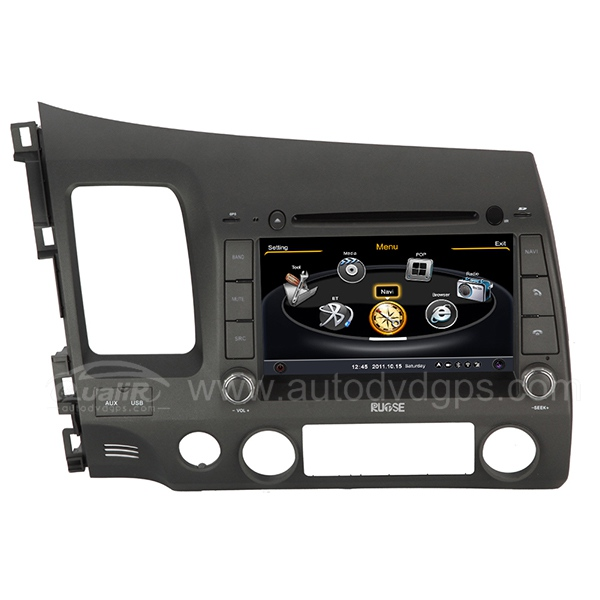 Car DVD GPS Navigation With dual-core/3Zone POP 3G/WIFI/20 Disc CDC/ DVD Recording/ Phonebook / Game For 2006-2011 Honda Civic
