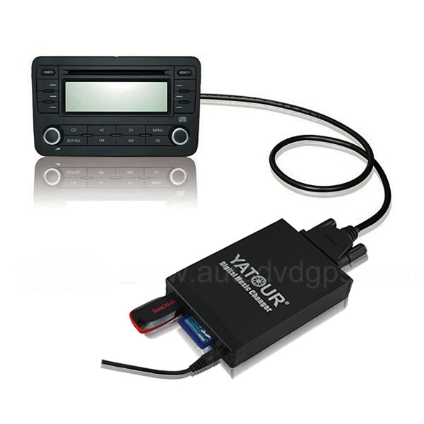 Yatour Car Digital Music Changer USB SD MP3 + Bluetooth (optional) for FIAT QUBO ALFA Romeo Series