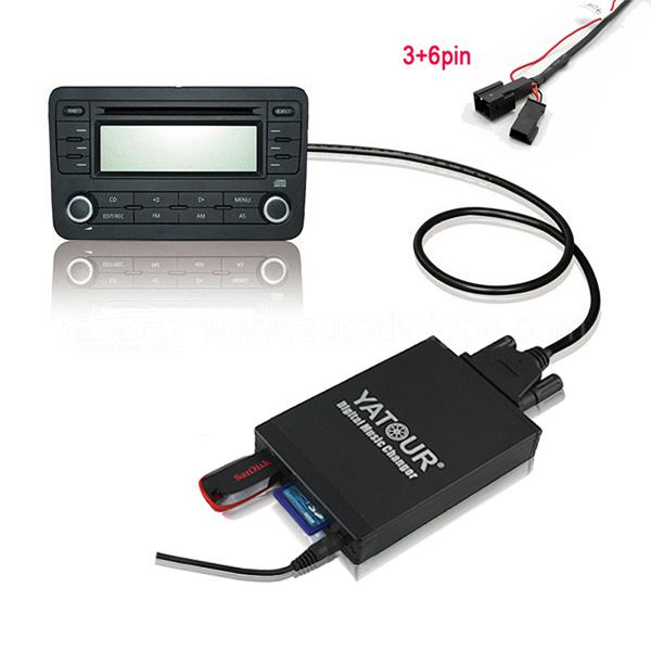 Car Digital Music Changer USB SD MP3 +  Bluetooth (optional) for 1991-2008 BMW Radio 3pin+6pin