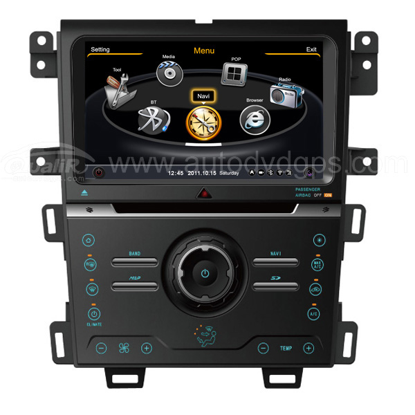 Car DVD GPS Navigation With dual-core/3Zone POP 3G/WIFI/20 Disc CDC/ DVD Recording/ Phonebook / Game For 2013 Ford Edge