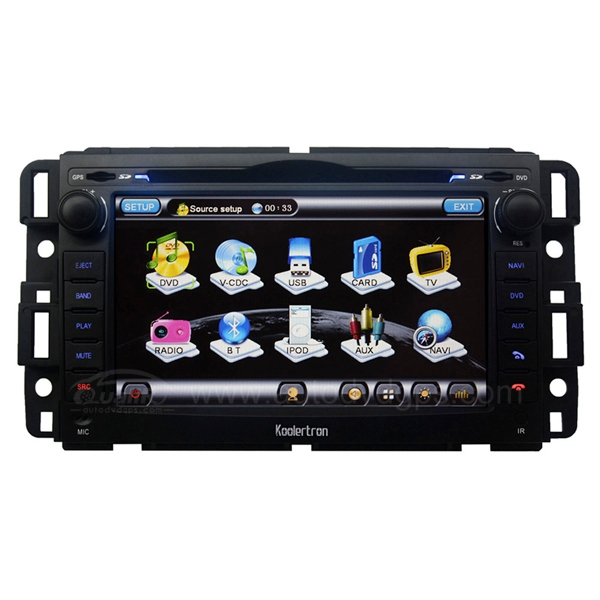 Auto DVD player with in dash GPS Navigation and 7 Inch HD touch screen and RDS PIP for GMC BUICK CHEVY SATURN