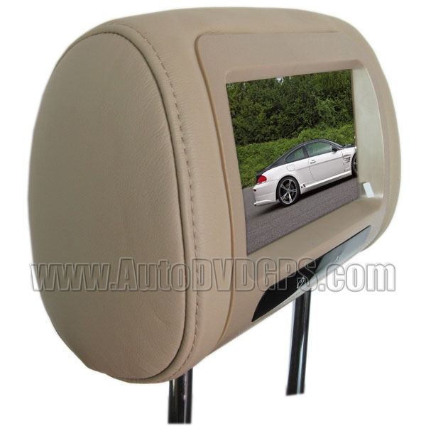 "BMW 3 Series Headrest Monitor 7"" Digital HD Screen/ True leather /Headset Jack/ 1 Pair"