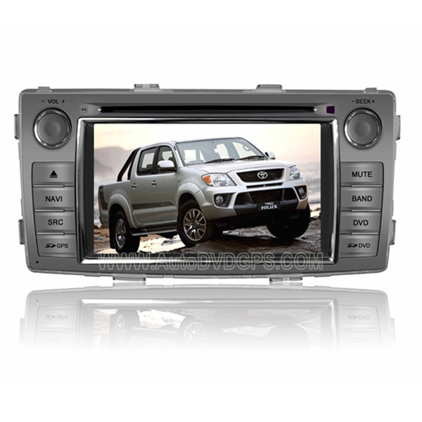 Aftermarket OEM Car DVD GPS Player + Bluetooth Navi Radio 6.2  HD Inch Screen For 2012 Toyota Hilux