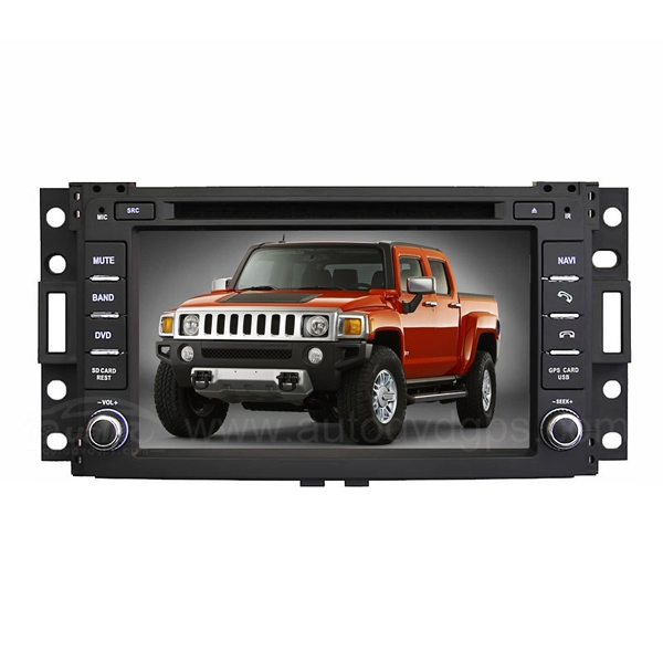 "Hummer H3 Pontiac Saturn Relay DVD GPS Navigation System with 7"" Digital Touchscreen Monitor"