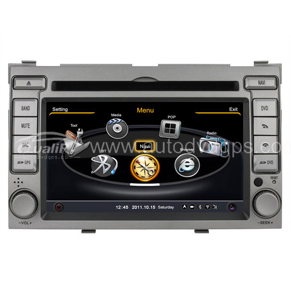 Car DVD GPS Navigation for 2009-2012 Hyundai i20 with Dual-core / 3Zone POP 3G / WIFI / 20 Disc CDC / DVD Recording / Phonebook / Game