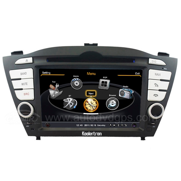 Hyundai ix35 Tucson ix Navigation System With 3 Zone/POP/3G/WIFI/DVD Recording/Phonebook/Game