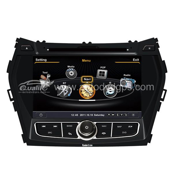 Car DVD GPS Navigation for 2012 Hydundai Santa fe ix45 with Dual-core / 3Zone POP 3G / WIFI / 20 Disc CDC / DVD Recording / Phonebook / Game