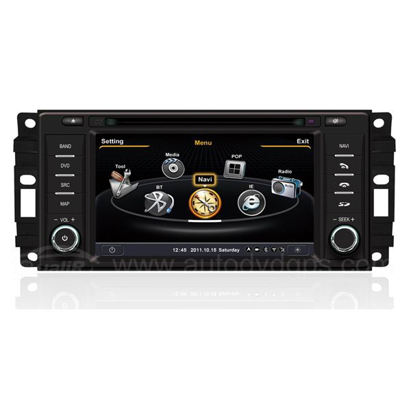 Car DVD GPS Navigation for 2008-2012 Jeep Grand Cherokee with Dual-core / 3Zone 3G / WIFI / 20 Disc CDC /  DVD Recording / Phonebook / Game
