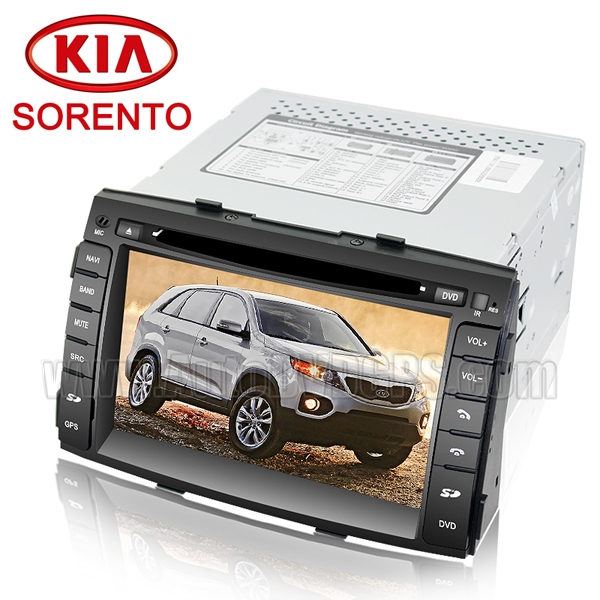 2009-11 Kia Sorento DVD GPS Navigation Player and 7 Inch HD Touchscreen and Can-bus optional RDS Virtual-CDC