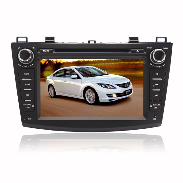 8 inch DVD GPS player Bluetooth iPod SWC with Digital Touch Screen Monitor For 2010 2011 2012 MAZDA 3