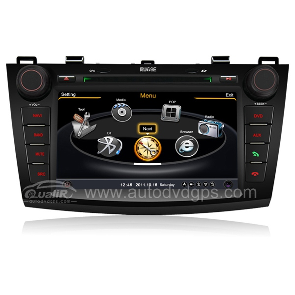 7 Inch Upgraded 2010-2013 Mazda 3 Navigation System With 3 Zone/POP/3G/WIFI/DVD Recording/Phonebook/Game
