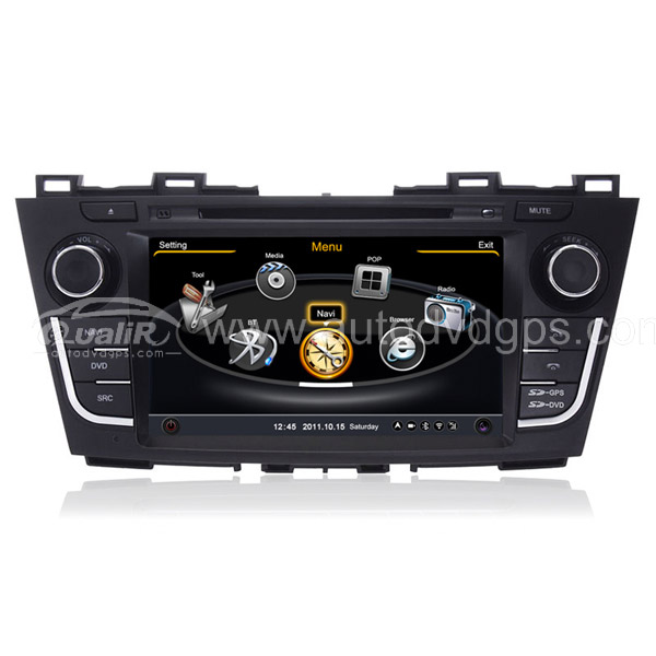 Car DVD GPS Navigation For 2012 2013 MAZDA 5 With Dual-core/3Zone POP 3G/WIFI/20 Disc CDC/ DVD Recording/ Phonebook / Game