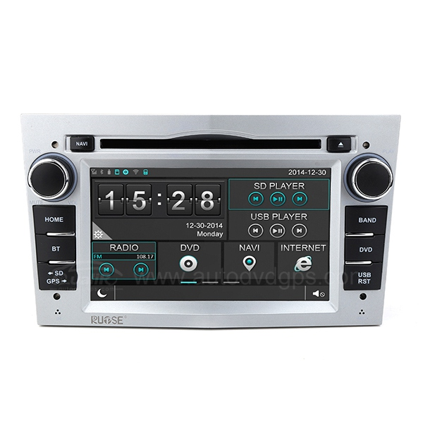 7 Inch Car DVD GPS Player with Bluetooth Phone book and Music For Vauxhall Opel Vectra Antara Zafira Corsa Meriva Aatra, Silver
