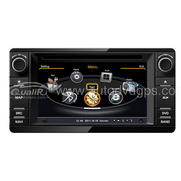Car DVD GPS Navigation With dual-core/3Zone POP 3G/WIFI/20 Disc CDC/ DVD Recording/ Phonebook / Game For 2012 Mitsubishi Outland