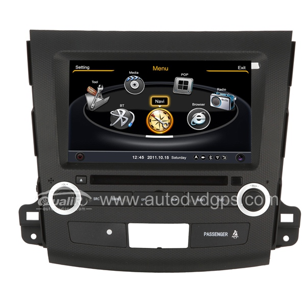 Car DVD GPS Navigation With dual-core/3Zone POP 3G/WIFI/20 Disc CDC/ DVD Recording/ Phonebook / Game For MITSUBISHI OUTLANDER