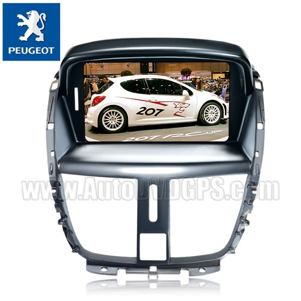 Car DVD Navigation with 7 Inch Digital Touch screen and iPod BT RDS CAN-BUS for Peugeot 207