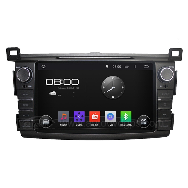 8 Inch Android 4.4 DVD Navigation System for 2014 2015 Toyota RAV4 with Capacitive Screen, BT, Radio, USB/SD Slot