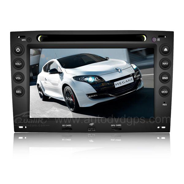 Car DVD Navigation Systems with 7 Inch Digital HD Touchscreen and iPod SWC for 2003-2008 Renault Megane