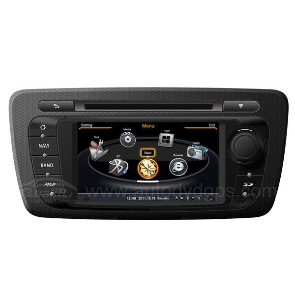Car DVD GPS Navigation for 2009 2010 2011 2012 2013 SEAT IBIZA with Dual-core/3Zone POP 3G/WIFI/20 Disc CDC/ DVD Recording/ Phonebook / Game
