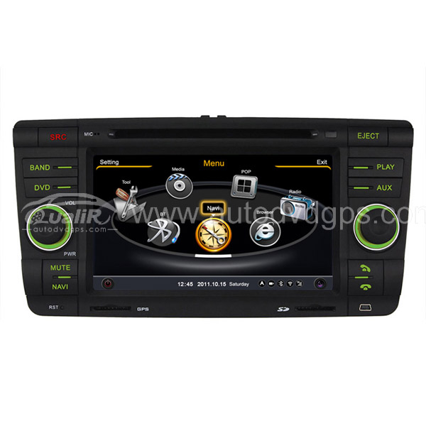Car DVD GPS Navigation for Skoda Octavia & Fabia with Dual-core / 3Zone POP 3G / WIFI / 20 Disc CDC / DVD Recording / Phonebook / Game