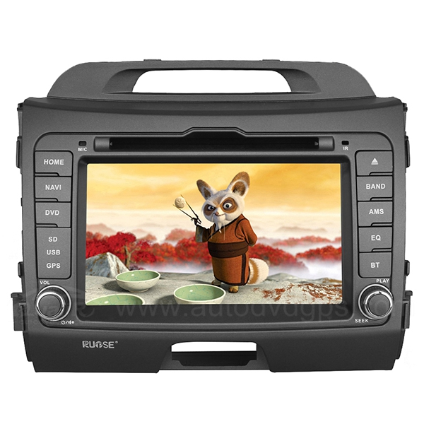 7 Inch Car DVD GPS Player with Bluetooth Phone book and Music For 2010 2011 2012 Kia Sportage
