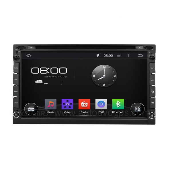 Universal 6.95 Inch Android 4.4 2 Din DVD Navigation System with Capacitive Screen, BT, USB/SD Slot, Radio