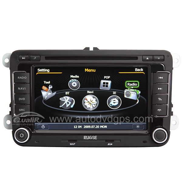 Car DVD GPS Navigation With 3 Zone POP 3G/WIFI/20 Disc CDC/ DVD Recording/ Phonebook / Game For VW GOLF