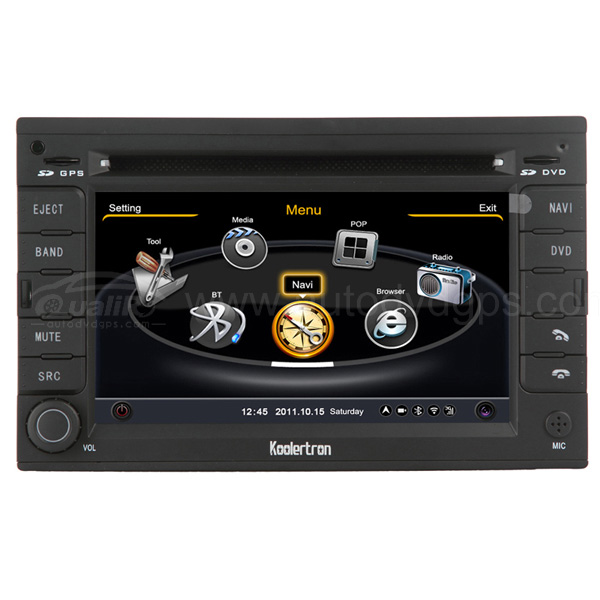VW Jetta 2004 DVD GPS Navigation System With 3 Zone POP/3G/WIFI/20 Disc CDC/DVD Recording/Phonebook/Game Functions